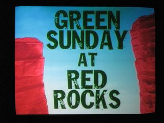 Green Sunday at Red Rocks