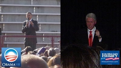 Barack Obama and Bill Clinton in Denver on January 30, 2008