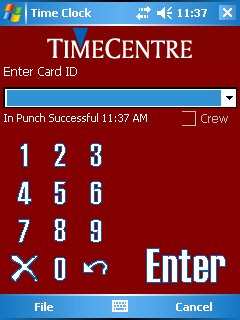 Pocket PC Time Clock Released