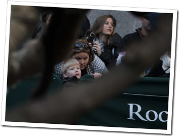 Andrea and Ethan watch the arrival of the 2013 Rockefeller Center Christmas Tree