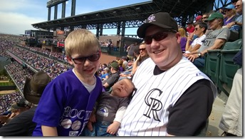 Colin's First Rockies Game