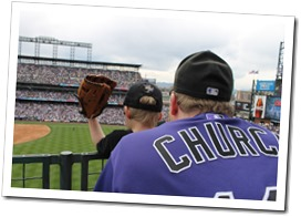 Ethan's Very First Rockies Game - Opening Day 2013