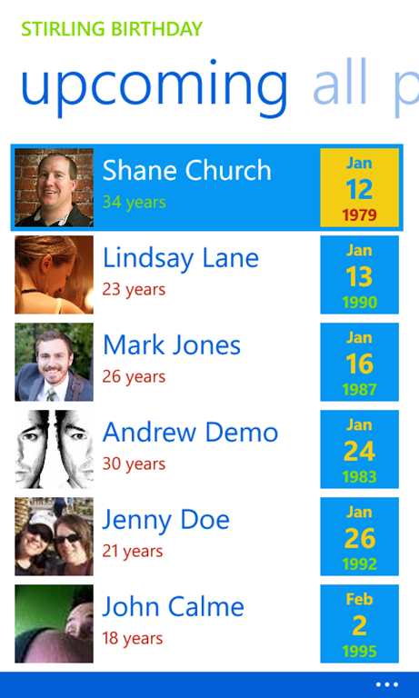 Stirling Birthday to Be Featured in the Windows Phone Store on September 23rd