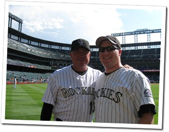 Me with former Rockies manager, Clint Hurdle in July 2008