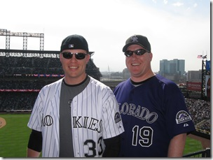 Dave and I at Opening Day 2009