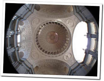 Looking up into the dome of San Francisco City Hall - the 5th tallest dome in the world