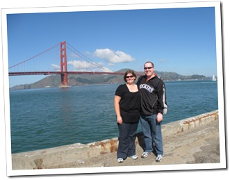 Andrea and I with the Golden Gate Bridge
