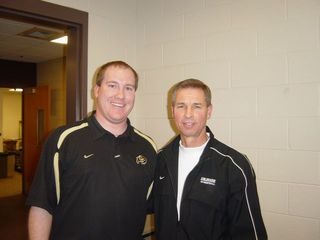 Me with CU Basketball Coach Jeff Bzdelik on January 31, 2008
