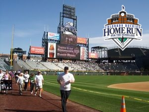 Running on Coors Field on May 11, 2008