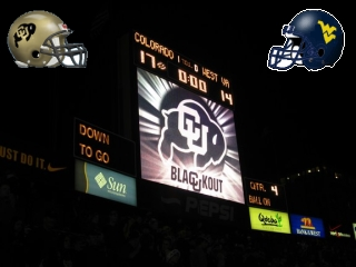Buffs Blackout #21 West Virginia - CU 17 - WVU 14