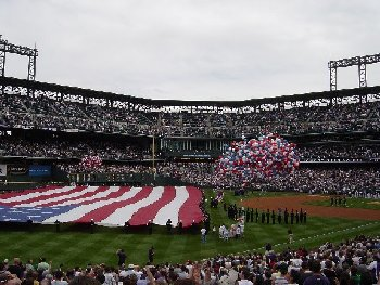 Opening Day 2005 at Coors Field