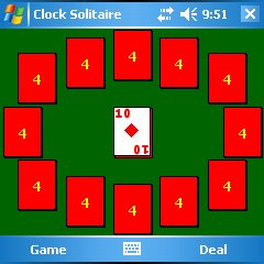 Clock Solitaire Square Screen