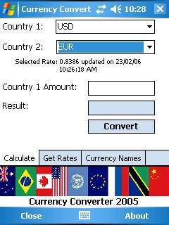 Currency Converter 2005 Screenshot