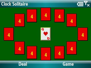Clock Solitaire Screenshot