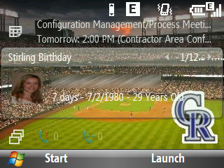 Stirling Birthday Home Screen Plugin