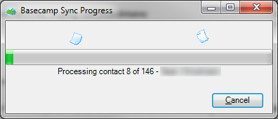Basecamp People Sync Progress Dialog