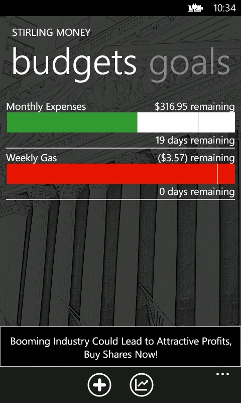 Stirling Money Screenshot